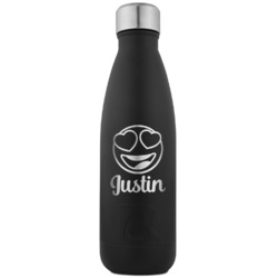 Emojis RTIC Bottle - Black - Engraved Front (Personalized)
