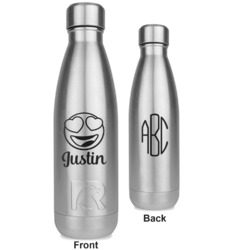 Emojis RTIC Bottle - Silver - Engraved Front & Back (Personalized)