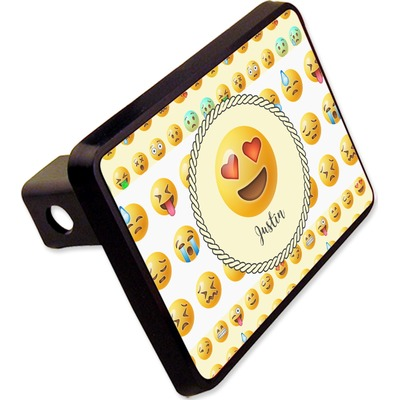 """Emojis Rectangular Trailer Hitch Cover - 2"""" (Personalized)"""