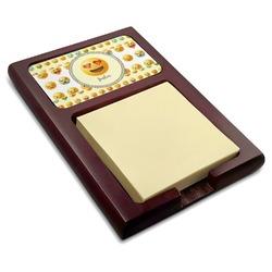 Emojis Red Mahogany Sticky Note Holder (Personalized)
