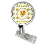 Emojis Retractable Badge Reel (Personalized)