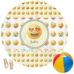 Emojis Round Beach Towel (Personalized)