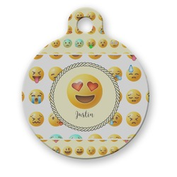 Emojis Round Pet Tag (Personalized)