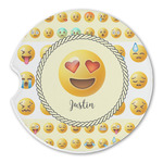 Emojis Sandstone Car Coasters (Personalized)