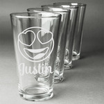 Emojis Beer Glasses (Set of 4) (Personalized)