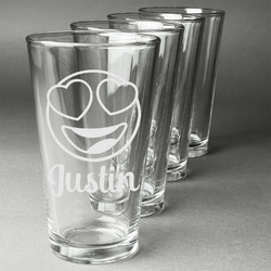 Emojis Beer Glasses (Set of 4) (Personalized)