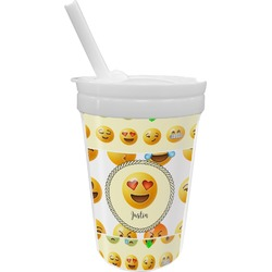 Emojis Sippy Cup with Straw (Personalized)