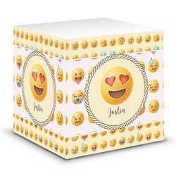Emojis Sticky Note Cube w/ Name or Text