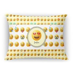 Emojis Rectangular Throw Pillow Case (Personalized)