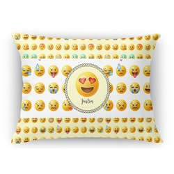 "Emojis Rectangular Throw Pillow Case - 12""x18"" (Personalized)"
