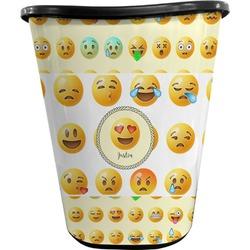 Emojis Waste Basket - Double Sided (Black) (Personalized)