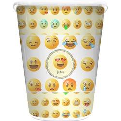 Emojis Waste Basket - Double Sided (White) (Personalized)