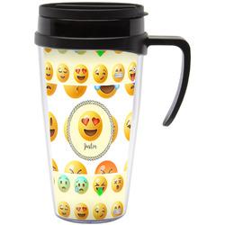Emojis Travel Mug with Handle (Personalized)