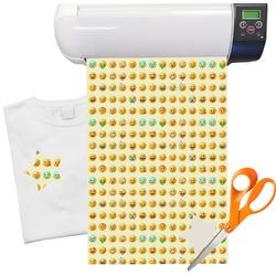 "Emojis Heat Transfer Vinyl Sheet (12""x18"")"