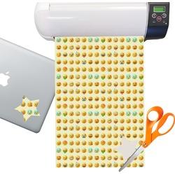 Emojis Sticker Vinyl Sheet (Permanent)