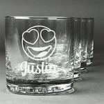 Emojis Whiskey Glasses (Set of 4) (Personalized)