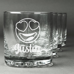 Emojis Whiskey Glasses (Set of 4) (Personalized)