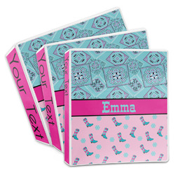 Cowgirl 3-Ring Binder (Personalized)