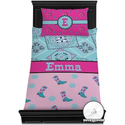 Cowgirl Duvet Cover Set - Twin (Personalized)