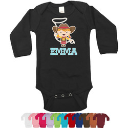 Cowgirl Long Sleeves Bodysuit - 12 Colors (Personalized)