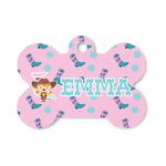 Cowgirl Bone Shaped Dog ID Tag (Personalized)