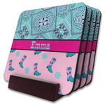 Cowgirl Coaster Set w/ Stand (Personalized)