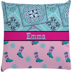 Cowgirl Decorative Pillow Case (Personalized)