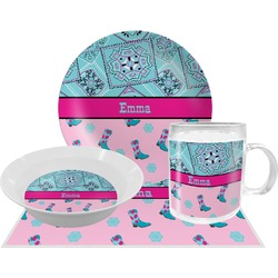 Cowgirl Dinner Set - 4 Pc (Personalized)