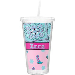 Cowgirl Double Wall Tumbler with Straw (Personalized)
