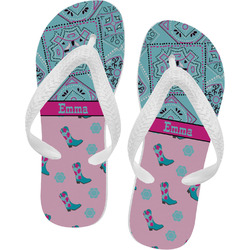 Cowgirl Flip Flops (Personalized)
