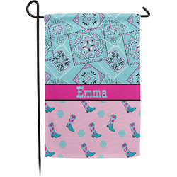 Cowgirl Garden Flag - Single or Double Sided (Personalized)