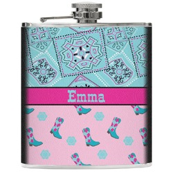 Cowgirl Genuine Leather Flask (Personalized)