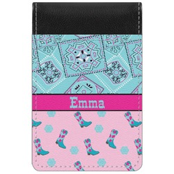 Cowgirl Genuine Leather Small Memo Pad (Personalized)