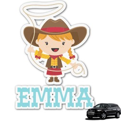 Cowgirl Graphic Car Decal (Personalized)