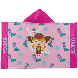 Cowgirl Kids Hooded Towel (Personalized)