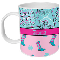 Cowgirl Plastic Kids Mug (Personalized)