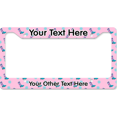 Cowgirl License Plate Frame (Personalized)