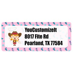 Cowgirl Return Address Labels (Personalized)