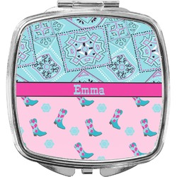 Cowgirl Compact Makeup Mirror (Personalized)