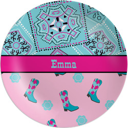 Cowgirl Melamine Plate (Personalized)