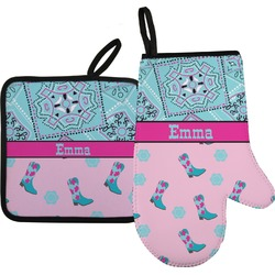 Cowgirl Oven Mitt & Pot Holder (Personalized)