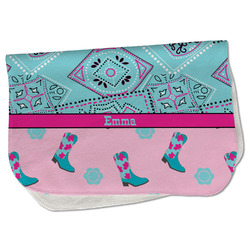 Cowgirl Burp Cloth - Fleece w/ Name or Text