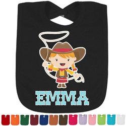 Cowgirl Baby Bib - 14 Bib Colors (Personalized)