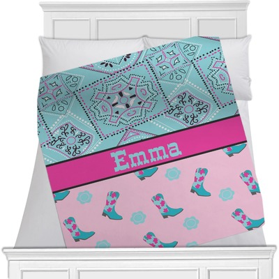 Cowgirl Minky Blanket (Personalized)