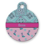 Cowgirl Round Pet Tag (Personalized)