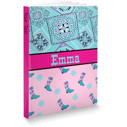"""Cowgirl Softbound Notebook - 7.25"""" x 10"""" (Personalized)"""
