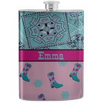 Cowgirl Stainless Steel Flask (Personalized)