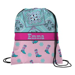 Cowgirl Drawstring Backpack (Personalized)