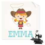 Cowgirl Sublimation Transfer (Personalized)