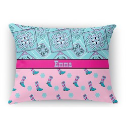 Cowgirl Rectangular Throw Pillow Case (Personalized)